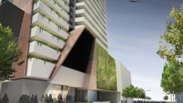 An artist's impression of the Aria tower.
