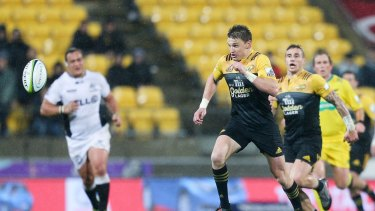 Hot form: Beauden Barrett will erase any doubts about his temperament if he can steer the Hurricanes to victory in this weekend's Super Rugby final.