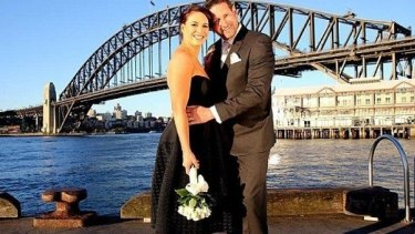 But will it last? Clare and Lachlan on <i>Married at First Sight</i>.