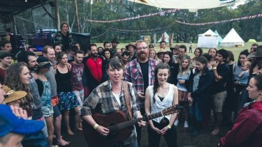 The Eastern perform at Happy Wanderer.