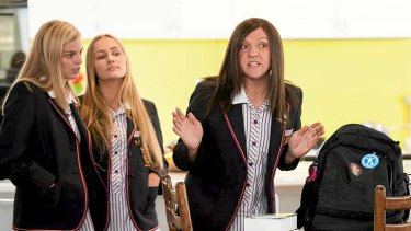 Chris Lilley has described Ja'mie as ''completely self-absorbed, out of control and outrageous''.