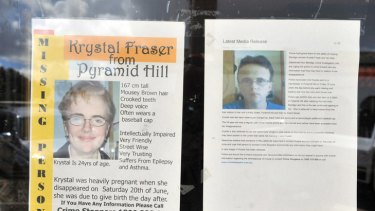 Posters appealing for informatin about Krystal.