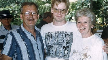 A Gilham family picture shows murder victims Steven (left), Helen Gilham (right) with their dead son Christopher in the middle.