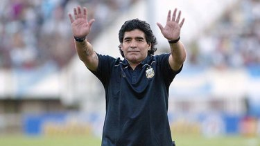 Appeal ... Diego Maradona can still draw a crowd.