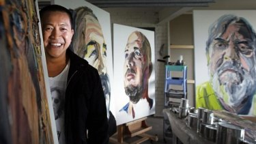 Surprise entry: Comedian and TV star Anh Do has a portrait among the finalists of the  Archibald Prize.