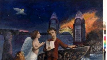 Heaven sent: Garry Shead'sDante and Virgil crossing the River Styx.