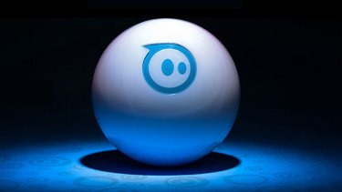 Orbotix's Sphero 2.0 robotic remote control ball, which can be controlled from a smartphone or tablet.