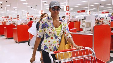 First lady Michelle Obama was snapped going shopping at a local Target store.