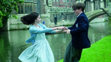 Charmed: Felicity Jones and Eddie Redmayne in <i>The Theory of Everything</i>.