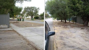 The same verge - after the council ensured its 'compliance' with guidelines.