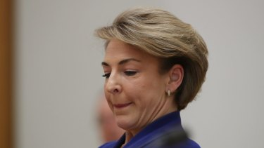 Employment minister Senator Michaelia Cash during Senate estimates on Wednesday.
