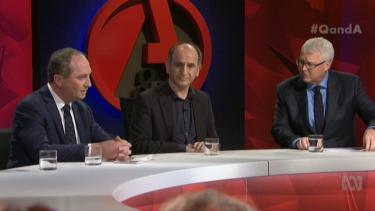 Barnaby Joyce, Armando Iannucci and Tony Jones.