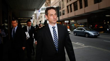 Former NSW treasurer Eric Roozendaal arrives at the ICAC hearing on Tuesday.