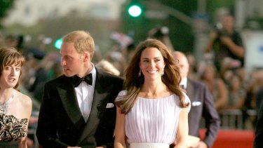 Understated glamour ... Kate Middleton and Prince William.