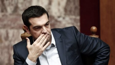 "Greek Prime Minister Alexis Tsipras had vowed to scrap the bailout, end cooperation with the so-called ""troika"" of international lenders and roll back austerity."