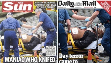 The Daily Mail and The Sun front pages.