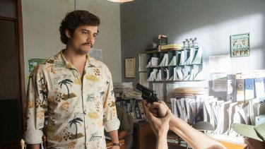 Wagner Moura stars in Netflix's  <i>Narcos</i>.