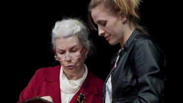 Footsure … Robyn Nevin inhabits every nook and cranny of Ana and Megan Holloway convinces as Catherine.