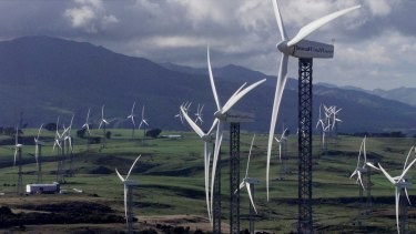 Tararua, New Zealand, described as the largest windfarm in the southern hemisphere