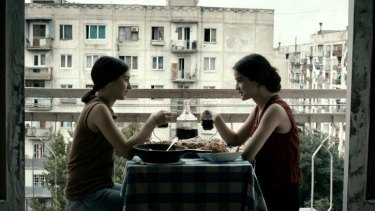 Bonds of friendship tested: Lika Babluani and  Mariam Bokeria worked from instinct in <i> In Bloom</i>.