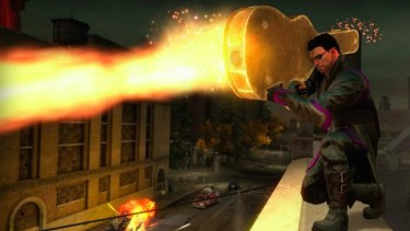 A screengrab from Saints Row 4.