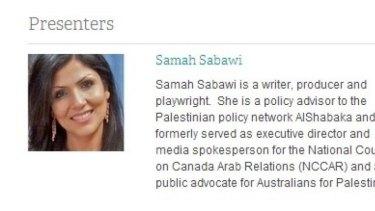 Samah Sabawi on the Wheeler Centre website