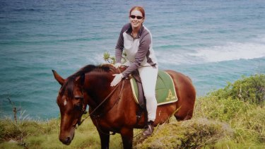 """""""A very bright, active girl"""": Jenny Lee Cook horse riding before her back injury."""