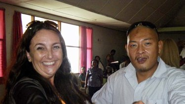 The Lipstick Brigade's Mari dances with Andrew Chan at a wedding in the jail.