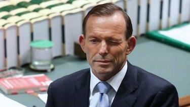 Prime Minister Tony Abbott winks during QT. Photo: Alex Ellinghausen