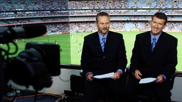 Network ten commentators Robert Walls and Steve Quartermain.
