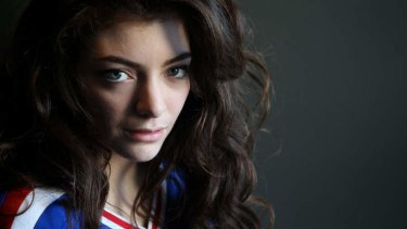 Pop Royalty ... NZ singer/songwriter/teenager  Lorde.