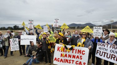 Up in arms: Anti-CSG protesters at Gloucester argue the project's risks are simply too high.
