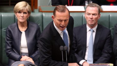 Prime Minister Tony Abbott during Question Time on Thursday.