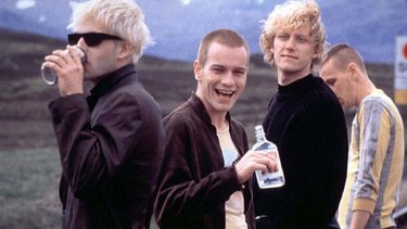 Johnny Lee Miller, Ewan McGregor, Kevin McKidd and Ewen Bremner in <i>Trainspotting</i>