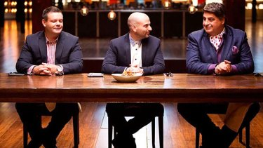 The end of another season: <i>MasterChef</i> judges get ready to judge.