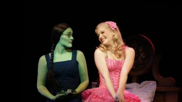 Jemma Rix and Lucy Durack in <i>Wicked</i>.