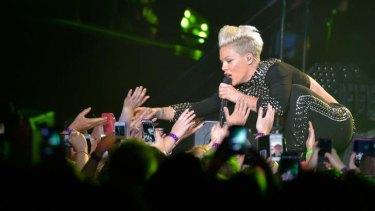 Pink performing in Melbourne last weekend.