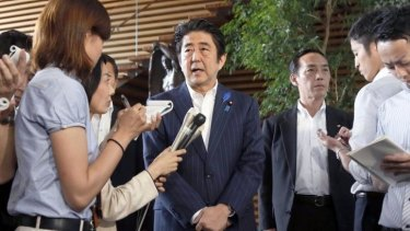 """Japanese Prime Minister Shinzo Abe says the investigation by North Korea is """"different from those in the past""""."""