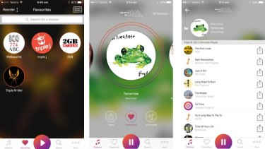 The RadioApp lets you save your favourites, listen to live broadcasts and see what's played recently.