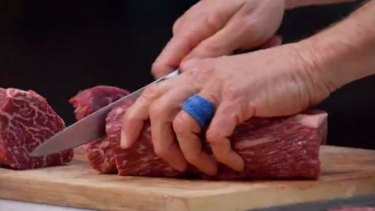 """Robert said the Wagyu beef would taste like a """"meat-flavoured marshmallow""""."""