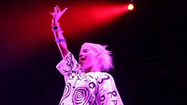 Be afraid: Yolandi spent part of one song calling the audience rapists and molesters.