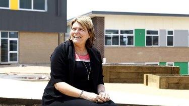 Ready to open its doors: Donna Shevlin, principal of the new Oran Park Public School.