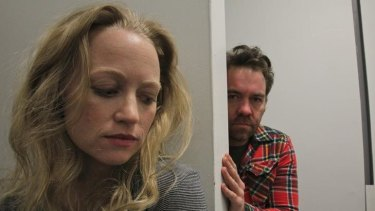 Claustrophobic thriller ... Anna Lise Phillips and Brendan Cowell.