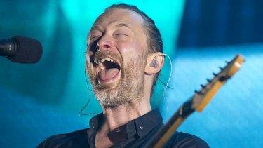 Raging against the machine: Radiohead's Thom Yorke.