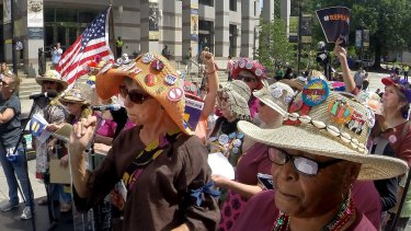 Protesters rally against House Bill 2 in Raleigh, North Carolina, on Monday.