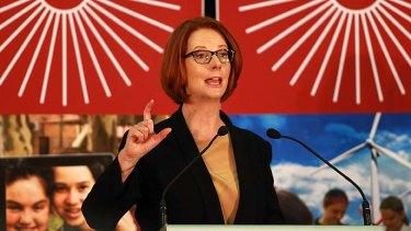 Red rules: Julia Gillard takes aim at the Greens.