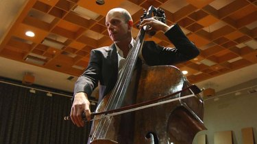 """Everything one wold hope for"": Maxime Bibeau with the Gasparo da Salo double bass."