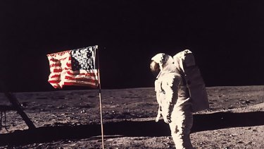 Old Glory ... too costly to plant another flag on the moon.