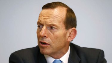 Under pressure: Tony Abbott.
