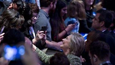 Hillary Clinton in Tampa, Florida, on Thursday.